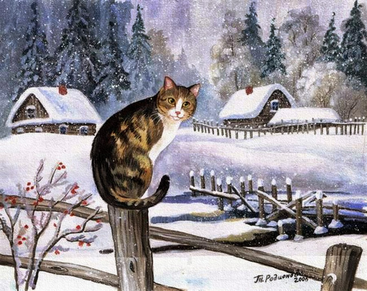 Новогодний кот...