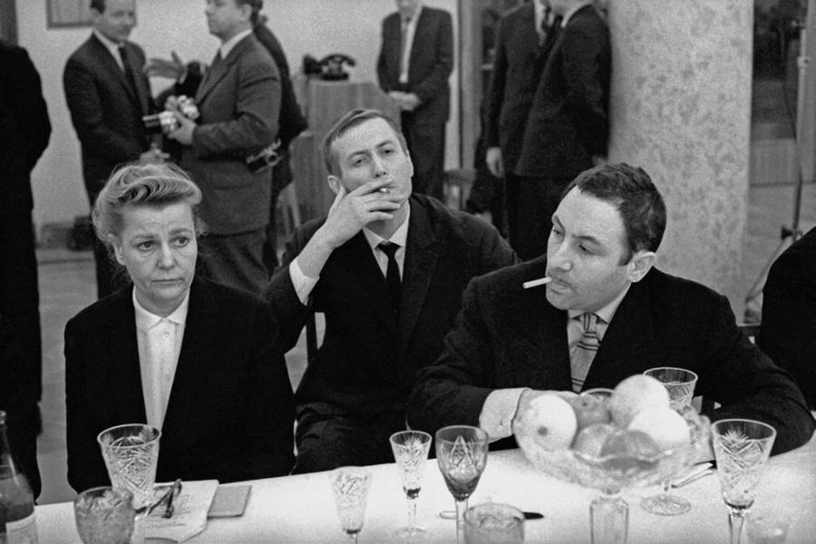 Встреча Н. С. Хрущева с творческой интеллигенцией в Доме приемов ЦК КПСС на Ленинских горах, 1962 год, Москва