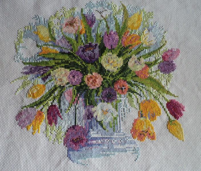 Вышивка тюльпан от риолис 50