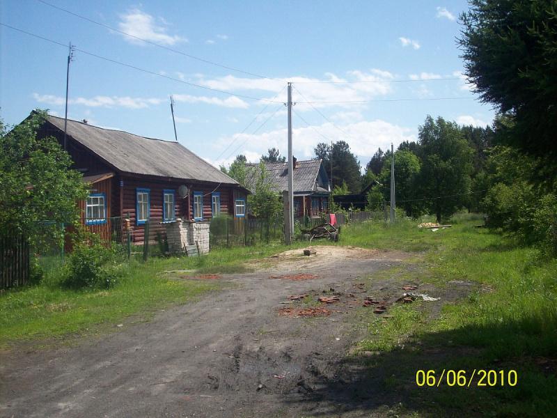 Улица Школьная в д.Затеиха