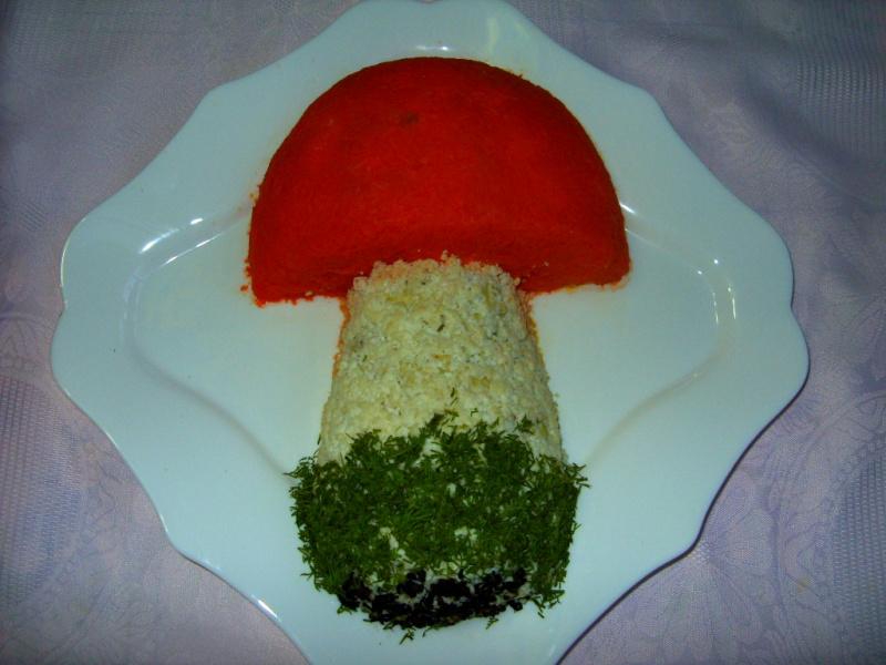 Грибы украшения на салат