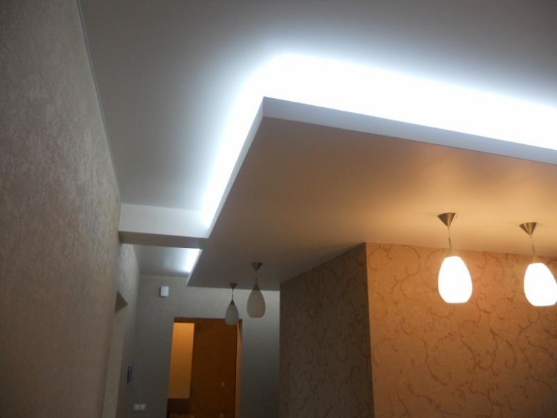 Потолки из гипсокартона со скрытой подсветкой своими руками