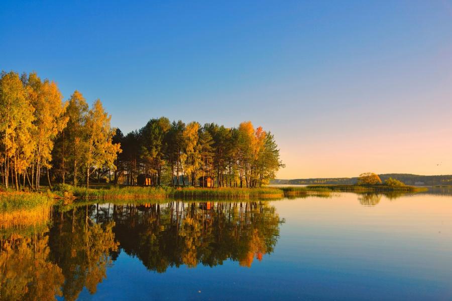 Августовский пейзаж .