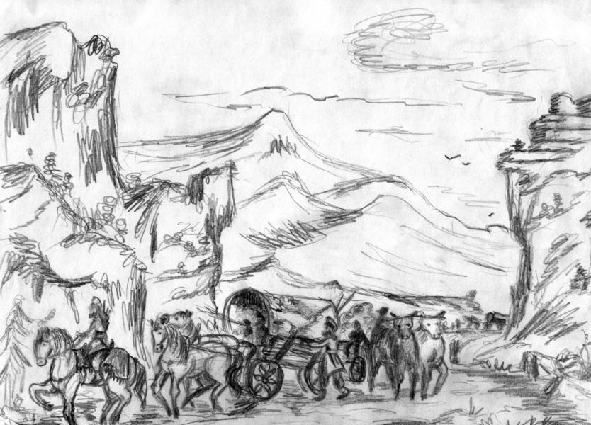 Исход ариев из Гипербореи в Рипейских (Уральских) горах