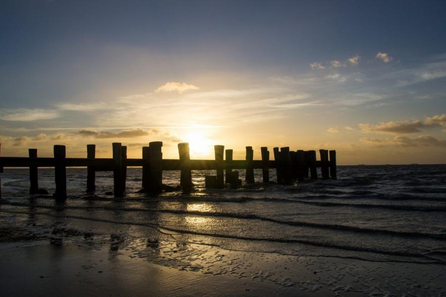 Восход на Северном море.