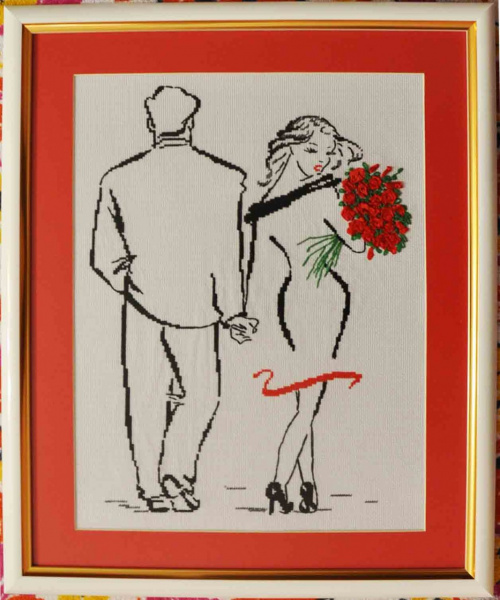 Романс о влюбленных вышивка готовая работа - Венок изобилия 16