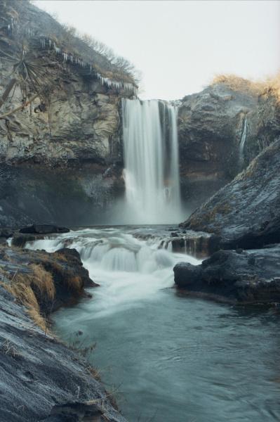 3-й водопад на реке Карымской. п-ов Камчатка