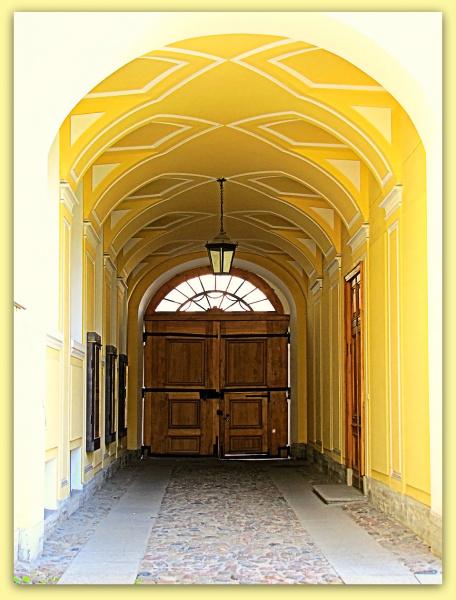 входная дверь во двор