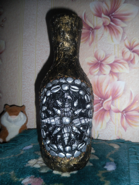 Бутылка в морском стиле.