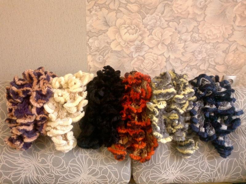 шарфы крючком