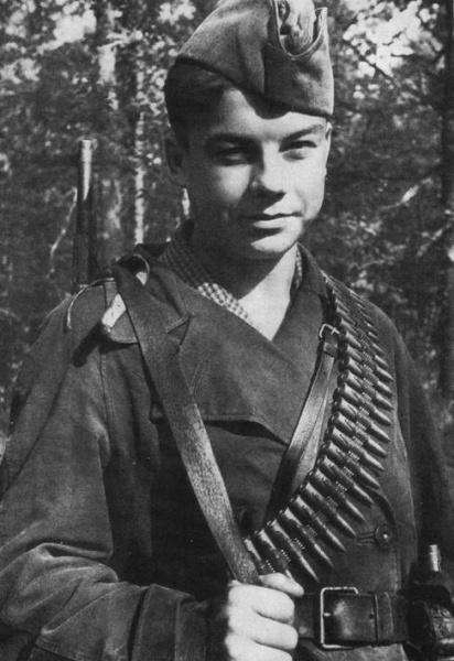 Партизан Василий Коробко. 17 лет
