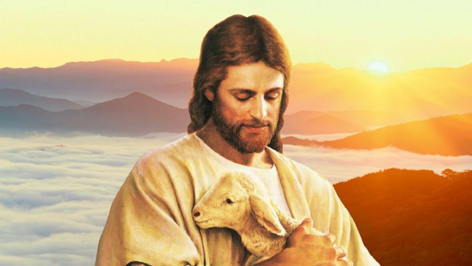 Иисус Христос с Овечкою.
