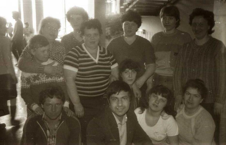 Представители льнокомбината. 1988 год.