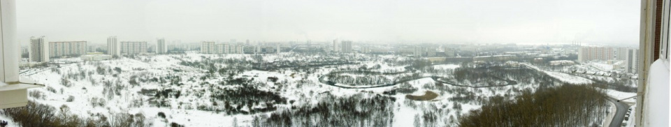 Панорама сходненского ковша зимой