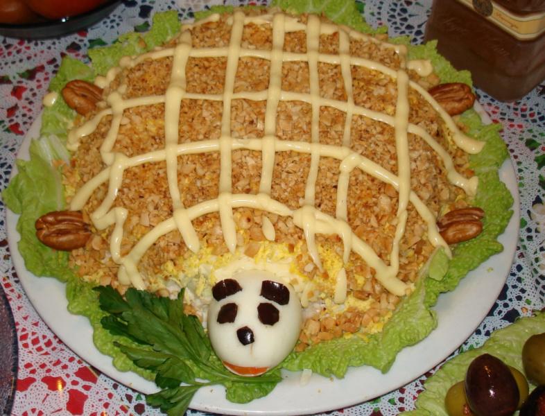 кулинария рецепты салата с фото черепашка