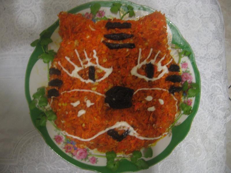 Рецепты салата тигренок с фото