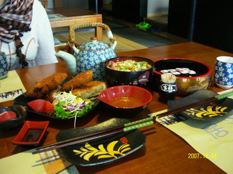 Ланьчжоу. Японский ресторан. Скромный завтрак.