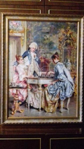 Вышивка игра в шахматы