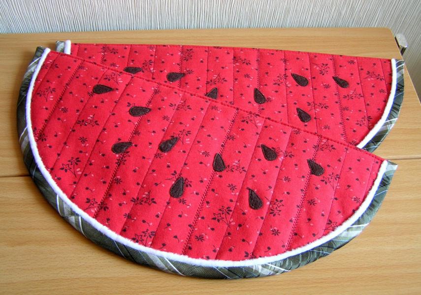 Подставка из ткани для горячего своими руками 89
