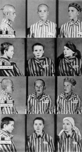 Учетные фотокарточки детей-узников концлагеря Освенцим