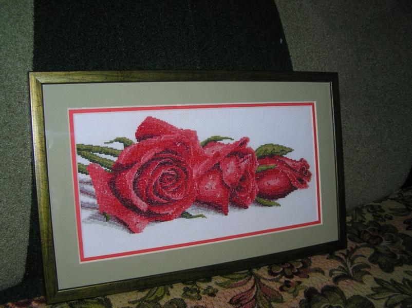 Вышивка крестом с росой