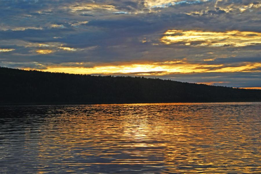 Закат на Ангаре.