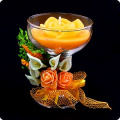Свеча восковая 'Роскошь лета' оранжевый 11 см