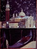 """КАРТИНА из МЕХА (45х63), """"Остров Сан Джорджо ночью"""", 2014 г."""