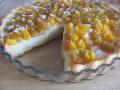 Персиковый тарт с пудингом