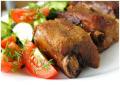 Свинные рёбрышки в пряном соево-горчичном маринаде.