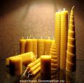 Свечи восковые медовые