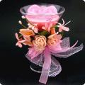 Свеча восковая 'Розовая нежность' 12 см