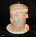 Свеча свадебная декорированная