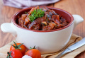 Куриные потроха с черносливом по - болгарски