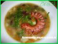 Суп с фасолью и печеными сосисками