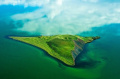 Кратер на озере Миватн, Исландия