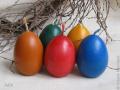 Свечи в форме яиц к Пасхе