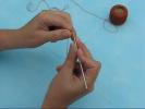 Вязаный крючком жгут на пяти бисеринках