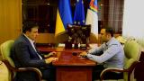 Встреча губернатора Саакашвили с главой милиции Одесской области