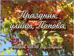 Праздник улицы Попова