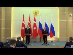 Пресс-конференция по итогам российско-турецких переговоров