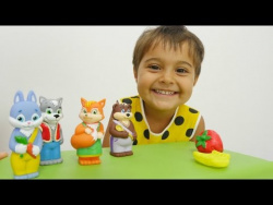 Развивающее видео для детей. Машенька и сказка Колобок. Видео с игрушками.