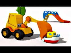 Экскаватор Мася и катер. Развивающий 3D мультик для детей.