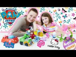 Видео для детей: убираем игрушки вместе с Рокки Щенячий Патруль! Новые приключения для детей!