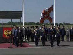 Награждение 393-й авиабазы ВВС России орденом Кутузова
