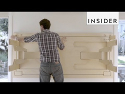 Стол, который можно спрятать в стену для экономии места