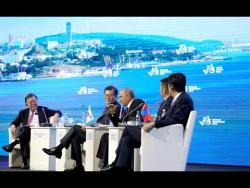 Дискуссия на пленарном заседании Восточного экономического форума