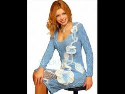 Схемы вязания платьев