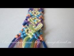 Замена короткой нити при плетении фенечки
