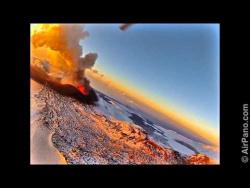Камчатка. Извержение вулкана Плоскй Толбачик - видеопанорама